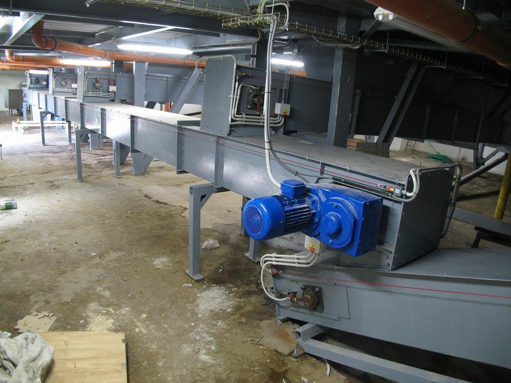 5 x redler<br />The system of transport cakes form filter presses.